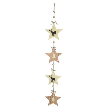 Christmas star shape wall sign decoration