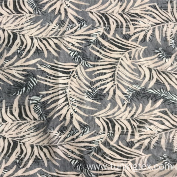 Nano Fabric With Leaves Print Fabric
