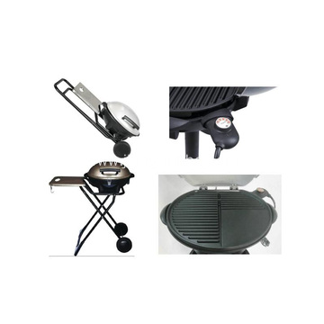 Folding Electric Grill With Side Table