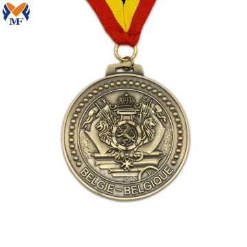 Metal bronze lion award medal
