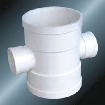 Bs5255/4514 Drainage Upvc Reducing Cross Grey Color