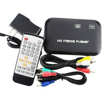 Mini Full 1080P USB External HDD Player With SD MMC U Disk Support MKV AVI HDMI-compatible Media Video Player IR Remote Player