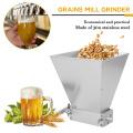 2019 Brand New Stainless 2-roller Barley Malt Mill Grain Grinder Crusher For Homebrew Winemaking Farm Home Brew Corn Soy Food
