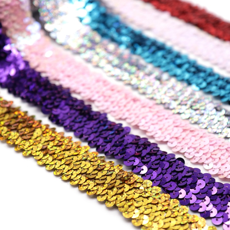 Sequin Lace Ribbon Embroidery