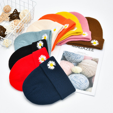 Winter Hats Fbaric embroidery Cute Girls Autumn