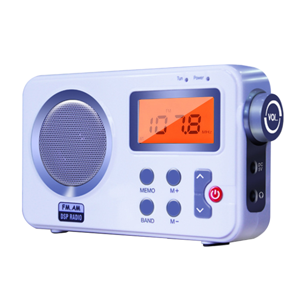 Home DAB Digital Stereo Tuning High Fidelity Portable AM FM Outdoor LCD Display Earphone Port Portable Radio With Antenna