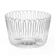 Stainless steel fruit hollow out wire mesh basket