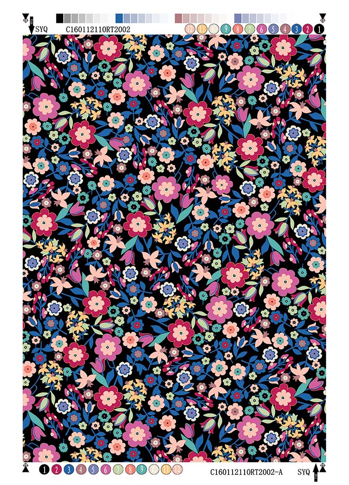 Rayon Twill Printing Fabric Small Flower
