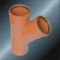 Din Drainage Upvc Y-tee Rubber spigot Grey Color