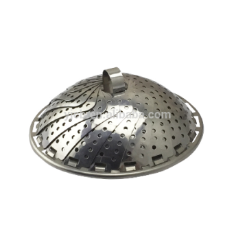 Stainless steel collapsible food steamer