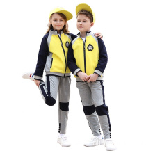 Spring/autumn cotton color stitching sports school uniform