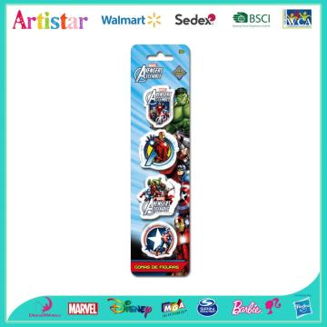 MARVEL AVENGERS blister card 4 pack erasers