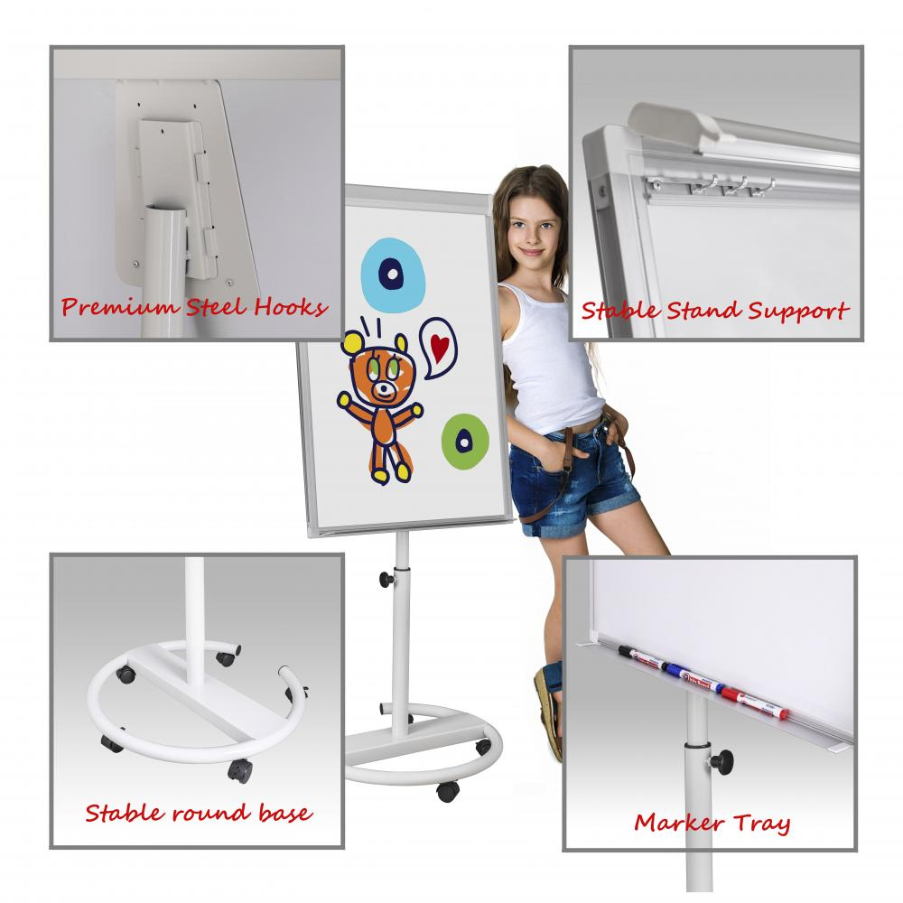 Easy Moving Magnetic Flipchart easel