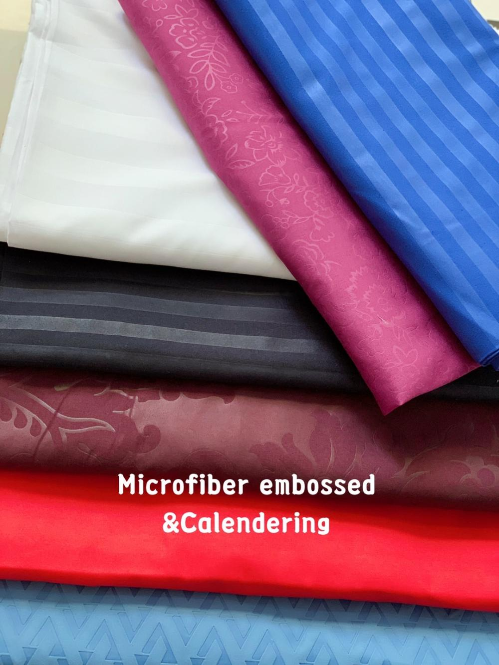 100% Polyester Microfiber Bedsheet Embossed Fabric