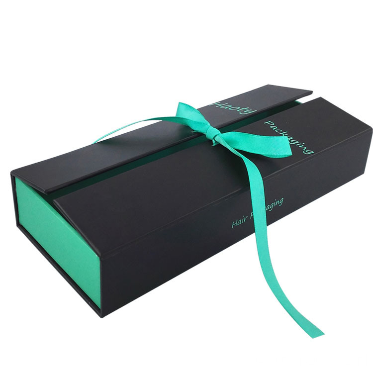 Matte Black Hair Extension Packaging Box