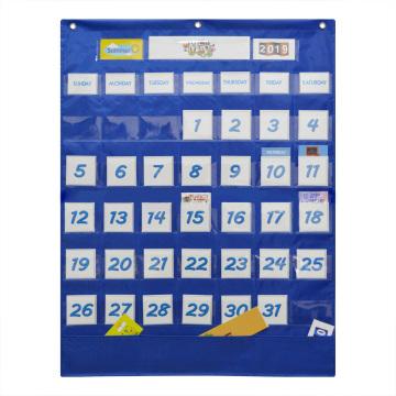 School Classroom Calendar Pocket Chart Wall Calendar & Weather Chart with 117 Cards Teaching Tool Supplies, 25.75*33.75in