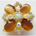 Attractive Alloy Rhinestone & Opal Shoe Buckle