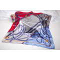 Silk scarves and scarves imitate printed silk scarves