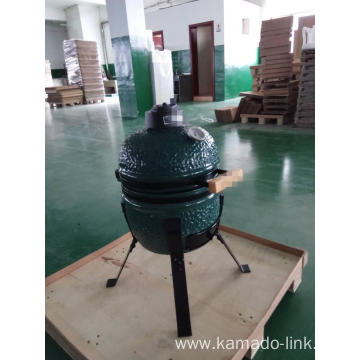 13inch mini kamado bbq grill green color