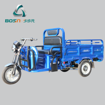 Single charge 150kms long range electric cargo tricycle