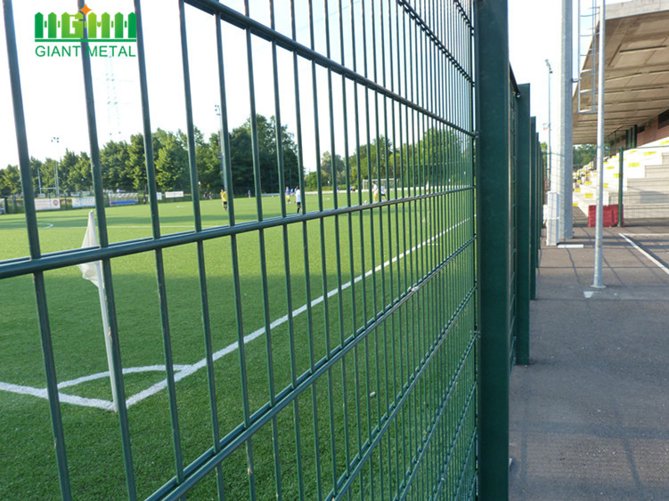 PVC Coated Twill Weave Double Horizontal Wire Fence