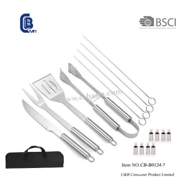 17PCS BBQ Tools with Carry Bag