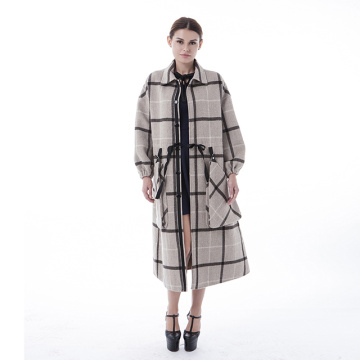 Fashion checked cashmere winter clothes