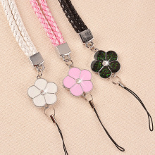 38 cm Mobile Phone Straps Lanyard Accessories Lobster Clasp Neck Lanyards for Keys Id Cards Sports Nylon Weave Lanyards Flowers