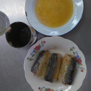 Canned Sardine Fish in Water with Salt 417g