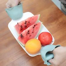Non Stick Anti-slip Heat Holder Cooking Baking Oven Mitts Cute Gloves Heat Resistant Insulation Finger Protector Kitchen Tools