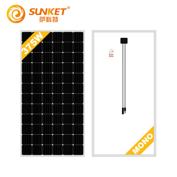 solar panels with black frame 380W mono