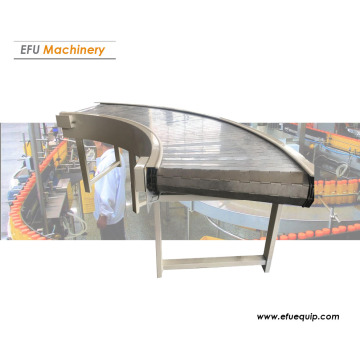 Curved Metal Chain Plate Conveyor