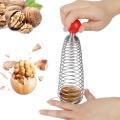 1 Pc Stainless Steel Walnut Opener Nuts Sheller Clip Crack Almond Walnut Pecan Hazel Nutcracker Kitchen Gadget Accessories