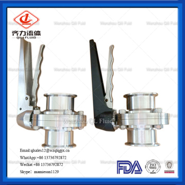 Hygienic Stainless Steel Welded Manual Butterfly Valve