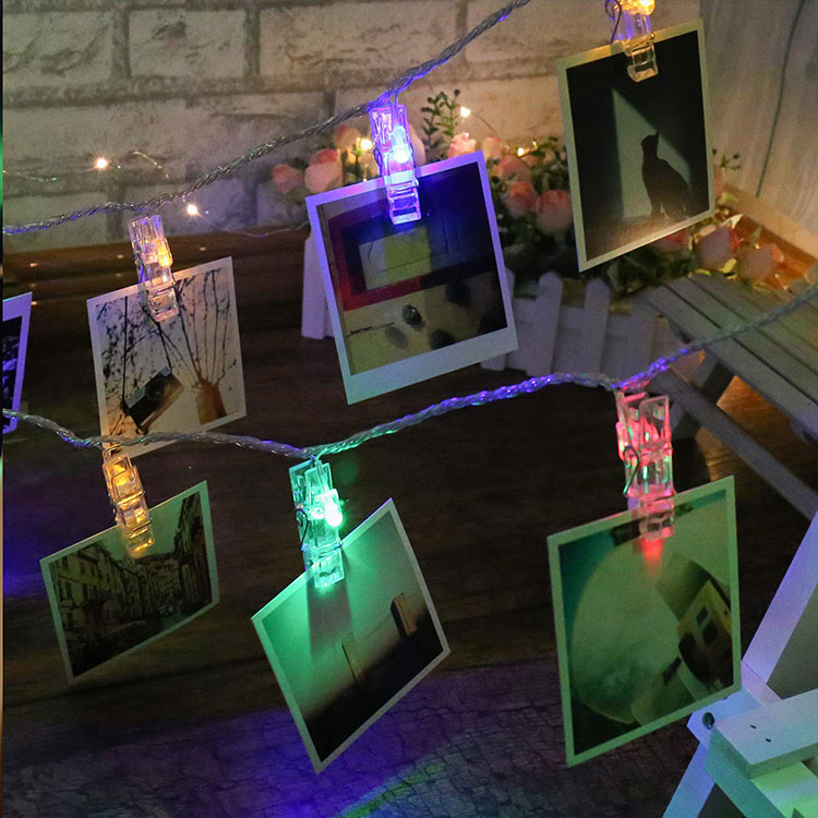 metal photo clip string lights