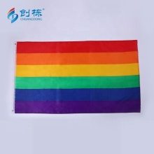 Promotion printed free sample lgbt rainbow flag