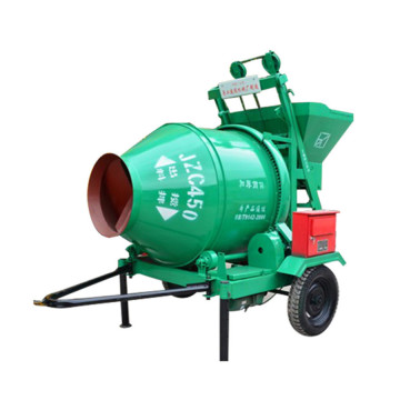 electric tipping hopper concrete drum mixer equipment