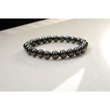 Classical Style Magnetic Hematite Bracelet health 8mm Round Semi Precious stone Stretch women men Charms jewelry bangle