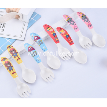Colorful Plastic Kiddy Cutlery Spoon Set