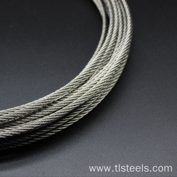 Factory Price 3mm Stainless Steel Wire Rope 7*7