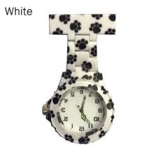 Colorful Silicone Round Dial Quartz Pocket Nurse Watch Quartz Brooch Doctor Nurse Hanging Watches LXH