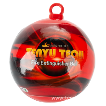 Intelligent fire ball/dry powder extinguisher