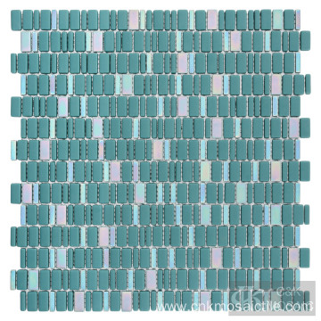 Solid Color Green Glass Mosaic Tile Sheets