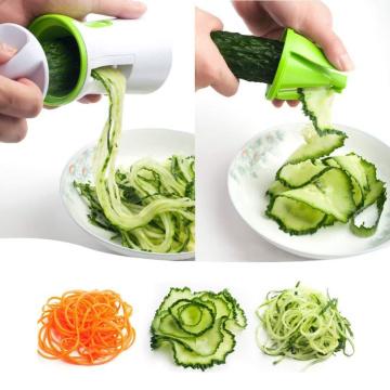 Portable Spiralizer Vegetable Slicer Handheld Spiralizer Peeler Spiral Slicer Stainless Steel for Potatoes Spaghetti Zucchini