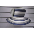 Multi Color Satin Ribbon Women's Formal Church Hats