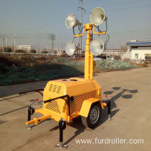 5 sections elevating 4*1000W 360degree 7M Trailer Mobile Light Tower FZMTC-1000B