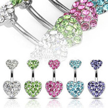Crystal Magnetic Heart Navel Belly Button Rings