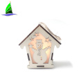 Wooden House Christmas Decoration with LED Lights
