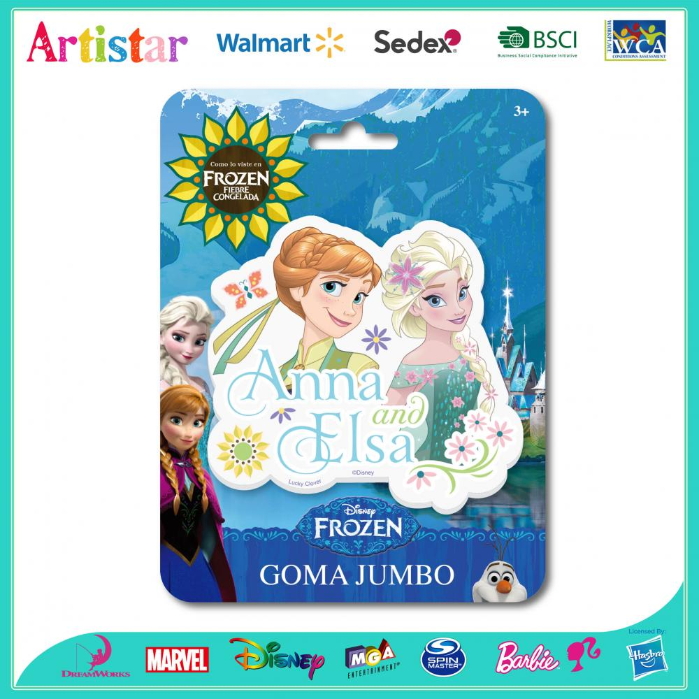 DISNEY FROZEN blister card Jumbo eraser