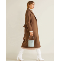 Long Wool Fashion Khaki Winter Thick Coat